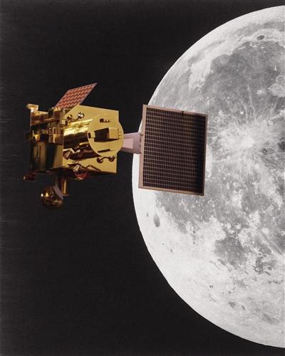 """月球与""""月船1号""""示意图 新京报制图/高俊夫"""
