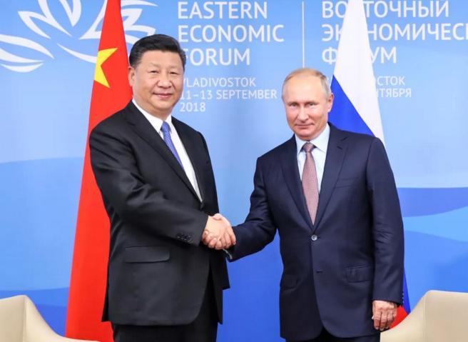 9月11日,国家主席习近平在符拉迪沃斯托克同俄罗斯总统普京举行会谈。新华社记者 谢环驰