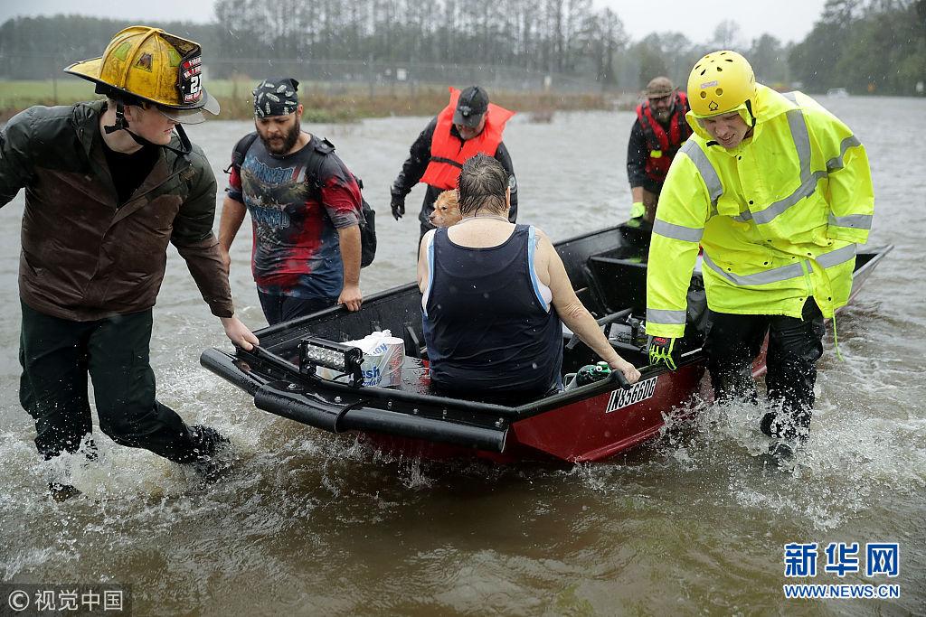 """登陆!飓风""""弗洛伦斯""""登陆美国北卡罗来纳州致命伴侣在线观看"""