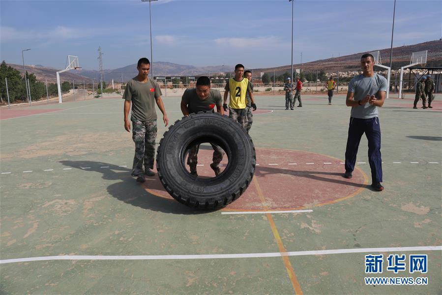 (國際)(1)中國官兵在聯黎部隊軍事障礙挑戰賽中獲佳績
