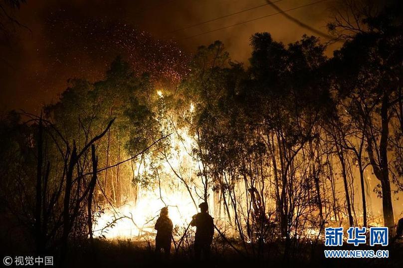 澳大利亚昆士兰州发生上百处山火 数千居民撤离