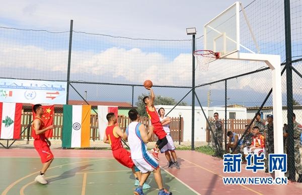 中国赴黎维和部队赢得联黎篮球公开赛冠军