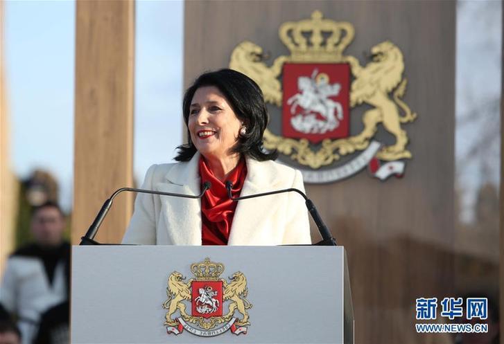 (国际)(1)祖拉比什维利宣誓就任格鲁吉亚总统