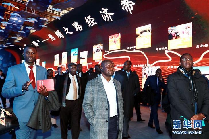 (圖文互動)(1)中國,未來可期——非洲使團參觀慶祝改革開放40周年大型展覽