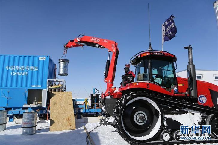 (圖文互動)(1)中國第35次南極科考隊昆侖隊撤離南極冰蓋之巔