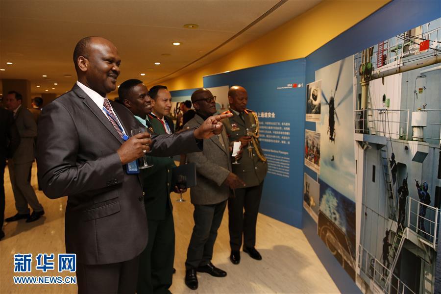 """(国际·图文互动)(1)""""维护世界和平的中国军队""""主题展览在联合国总部开幕"""