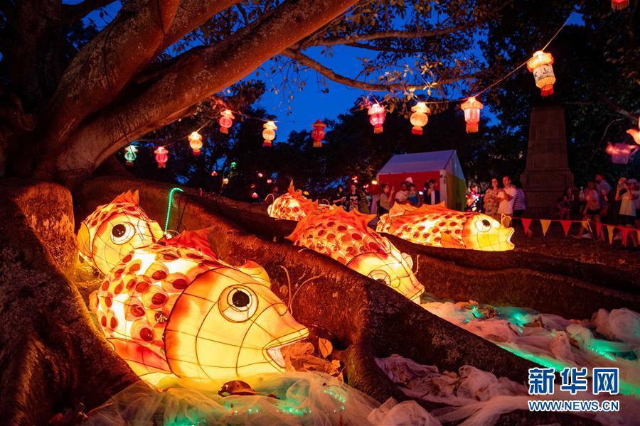 (國際)(1)新西蘭奧克蘭舉辦盛大元宵燈節