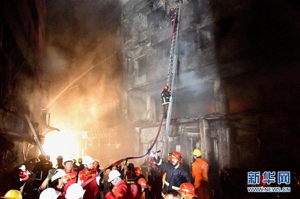 孟加拉国首都火灾致69人死 暂无中国公民伤亡