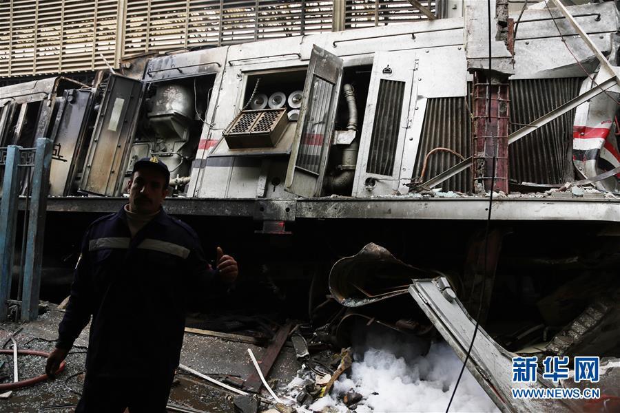 (国际)(3)埃及一火车站发生火灾致重大人员伤亡