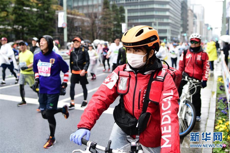 (國際·圖文互動)(1)中日合作智能頭盔首次用于東京馬拉松