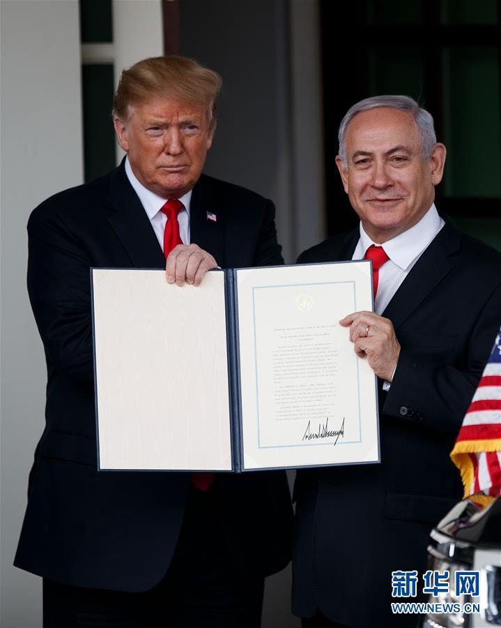 (國際)(3)特朗普宣布承認以色列對戈蘭高地的主權