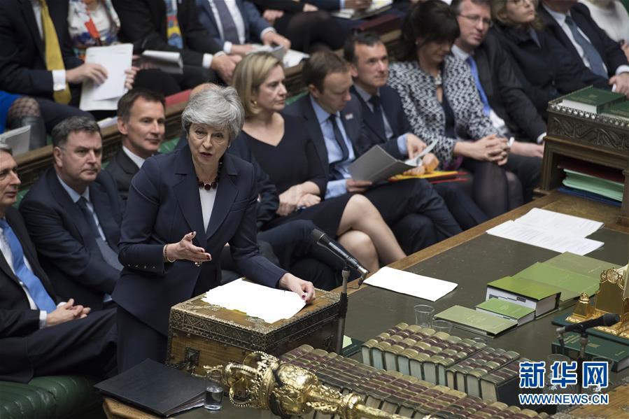 """(国际)(3)英国议会下院正式确认推迟""""脱欧"""""""