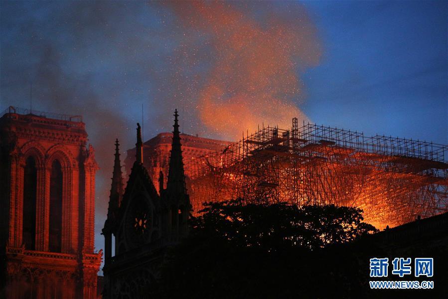 (國際)(1)巴黎聖母院發生大火 建築損毀嚴重