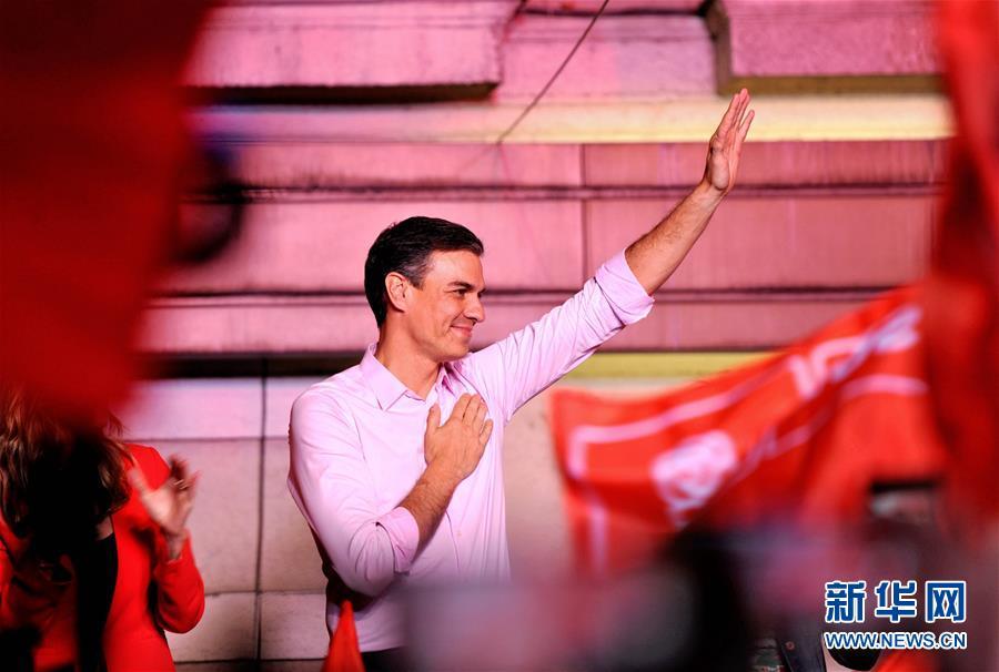(國際)(6)西班牙執政黨工人社會黨在議會選舉中得票率第一