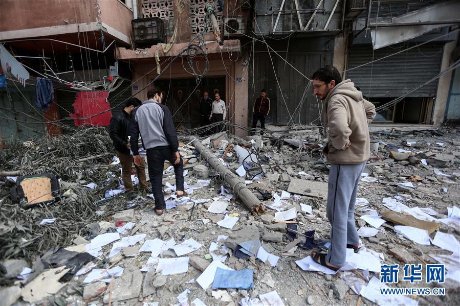 """(国际)(6)巴勒斯坦总统谴责以色列对加沙地带""""侵略升级"""""""