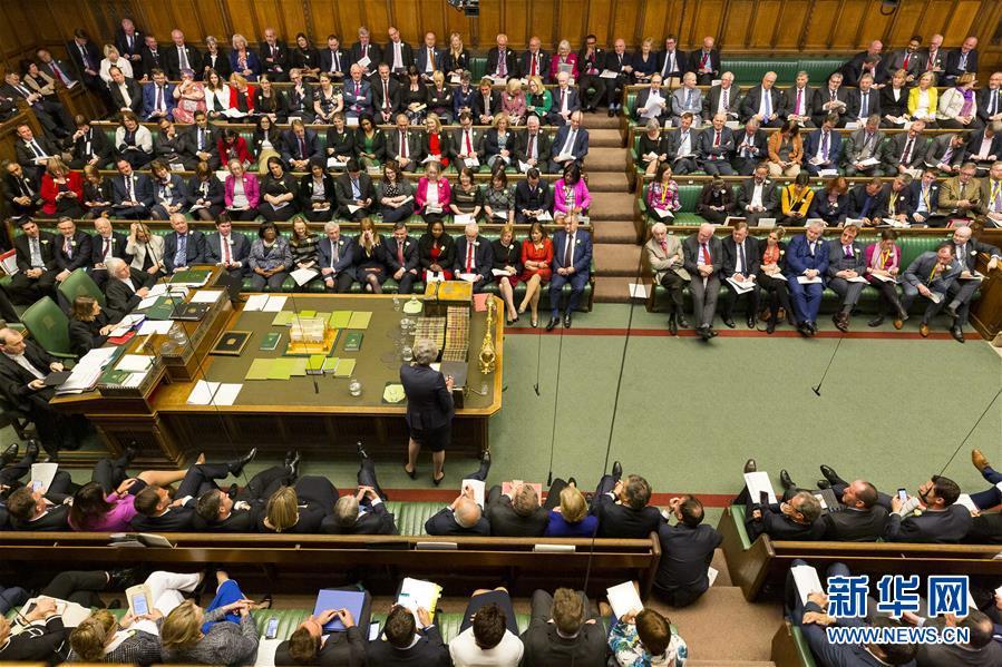 (国际)(1)特雷莎·梅进行首相问答