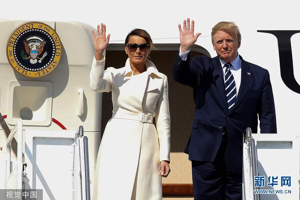 特朗普夫妇抵达爱尔兰 开始正式访问