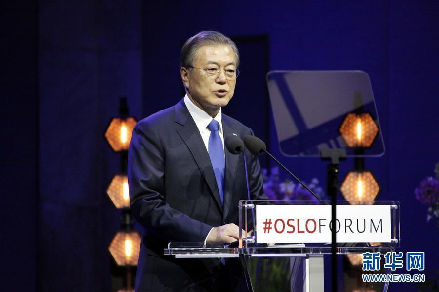 (XHDW)(1)文在寅:希望在特朗普访韩前实现韩朝领导人再次会晤