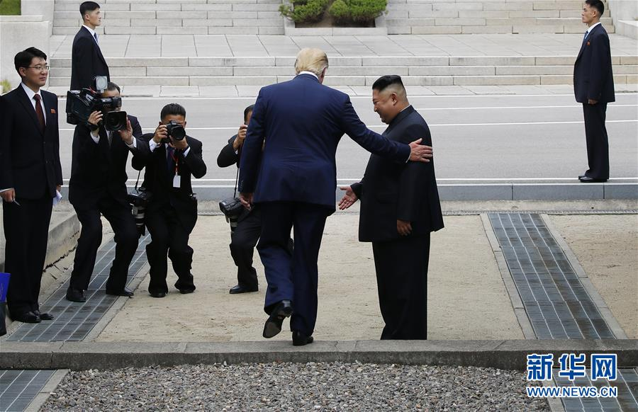 (國際)(2)朝美領導人在板門店會面