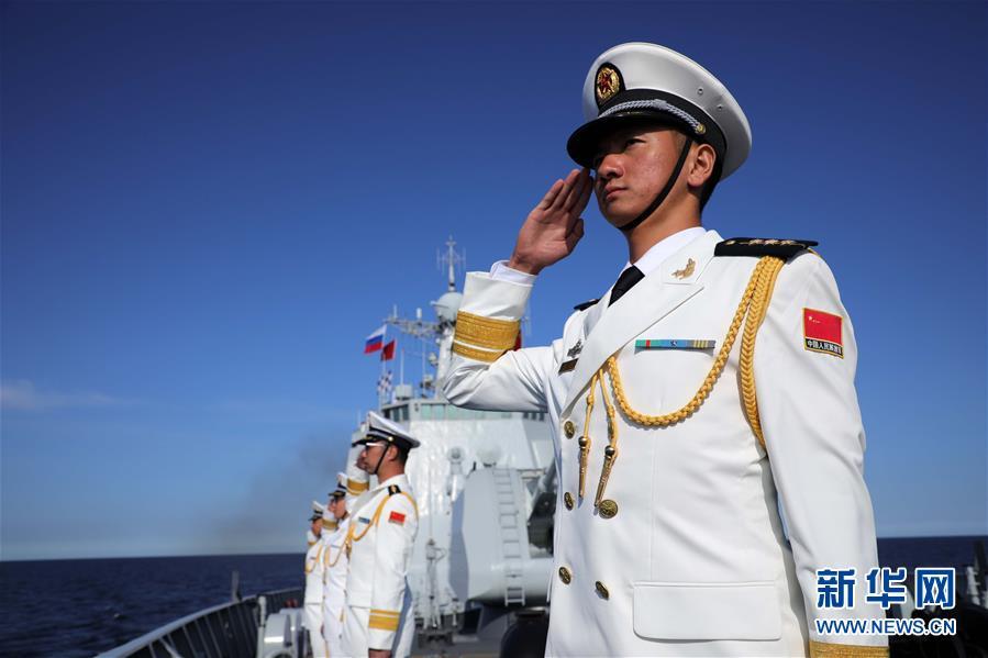 (图文互动)(3)中国海军西安舰参加俄罗斯海军节庆典海上阅兵