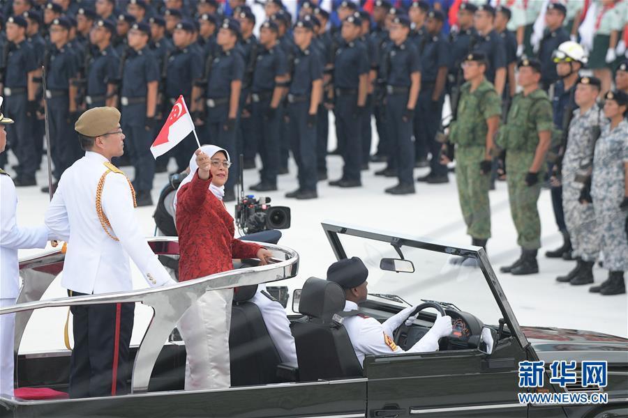(國際)(1)新加坡舉行國慶54周年慶典