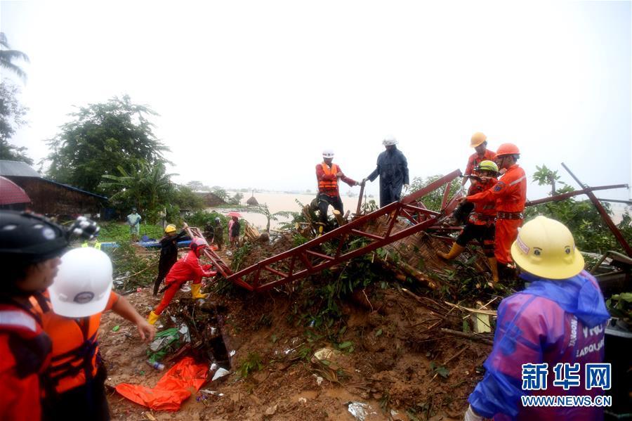 (国际)(2)缅甸孟邦山体滑死亡人数上升至29人