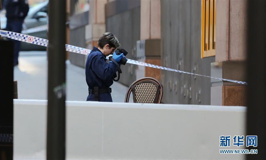 (国际)(5)一名中国公民在悉尼持刀伤人事件中受伤