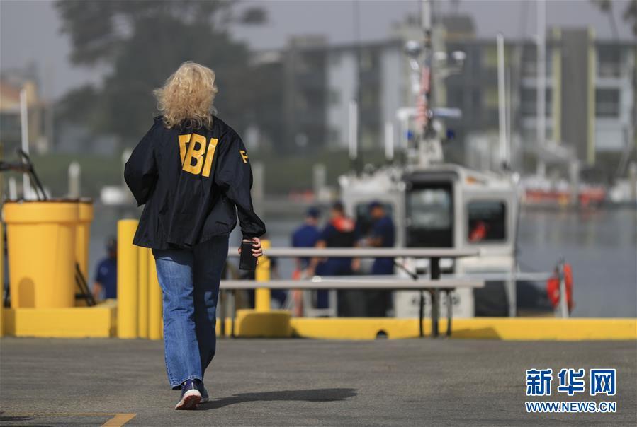 (国际)(1)美国加州南部游船失火 34人失踪