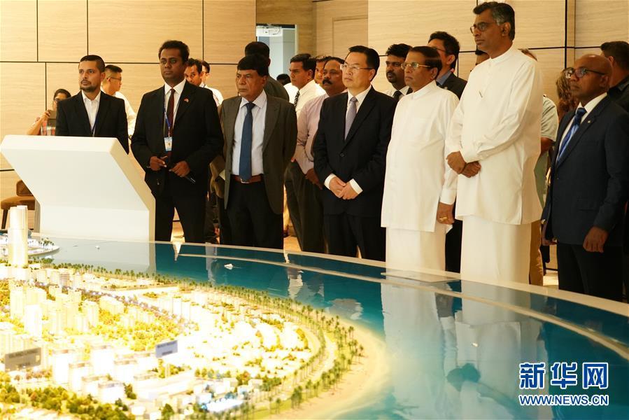 (國際·圖文互動)(1)斯裏蘭卡總統:把港口城項目建成斯經濟社會發展新引擎