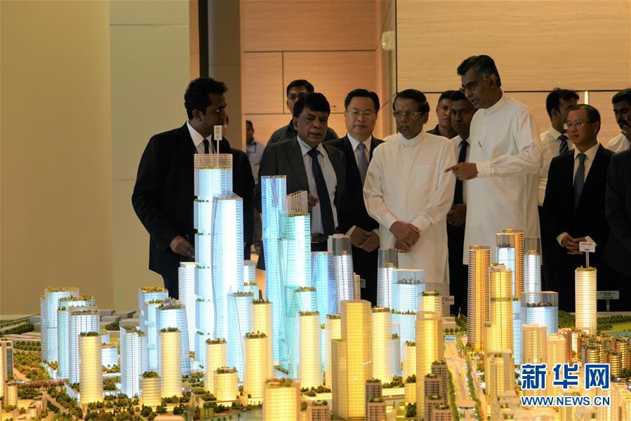 (國際·圖文互動)(2)斯裏蘭卡總統:把港口城項目建成斯經濟社會發展新引擎