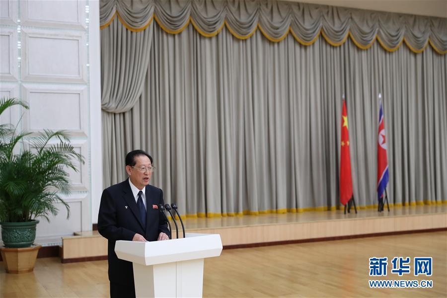 (國際)(1)朝鮮官方舉行招待會隆重慶祝朝中建交70周年