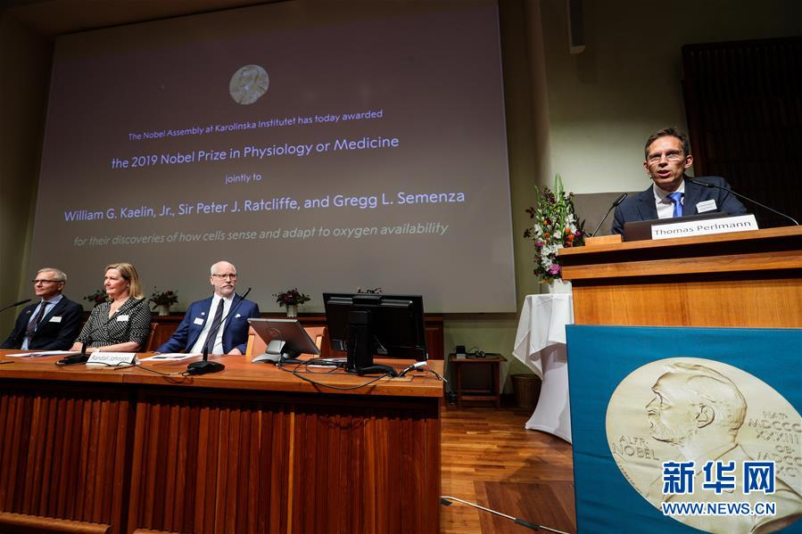 (國際)(4)三名科學家分享2019年諾貝爾生理學或醫學獎