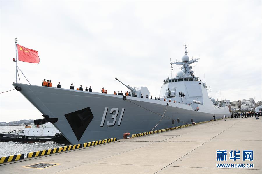 (國際)(1)中國海軍艦艇抵達日本將參加國際艦隊閱艦式