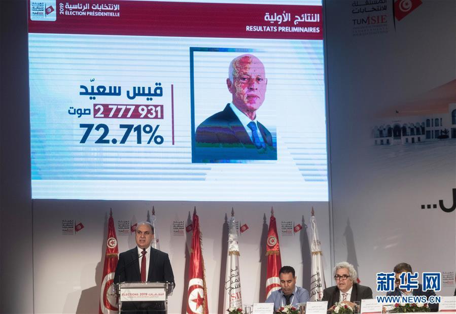 (國際)(3)初步結果顯示賽義德贏得突尼斯總統選舉