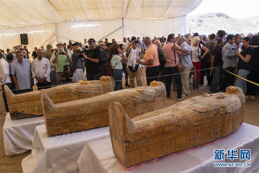 (国际)(1)埃及出土30具3000年前的木质棺椁