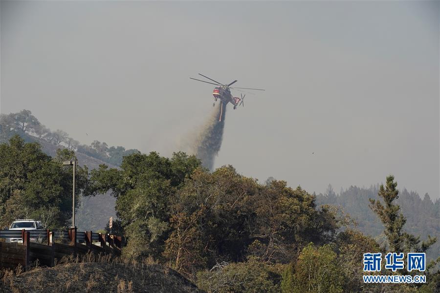 (国际)(7)美国加州北部索诺马县发生山火