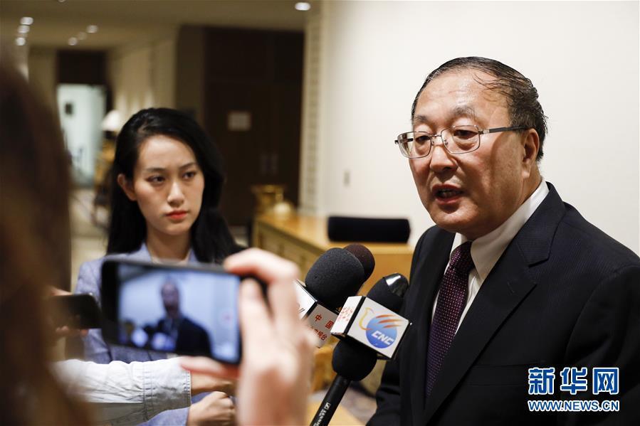 (国际・图文互动)(2)中国常驻联合国代表张军就人权问题接受中外媒体采访