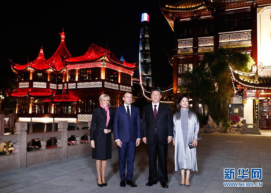欢迎马克龙总统晏瞿网解读大发欢乐生肖梦再次访华并第一次来上海