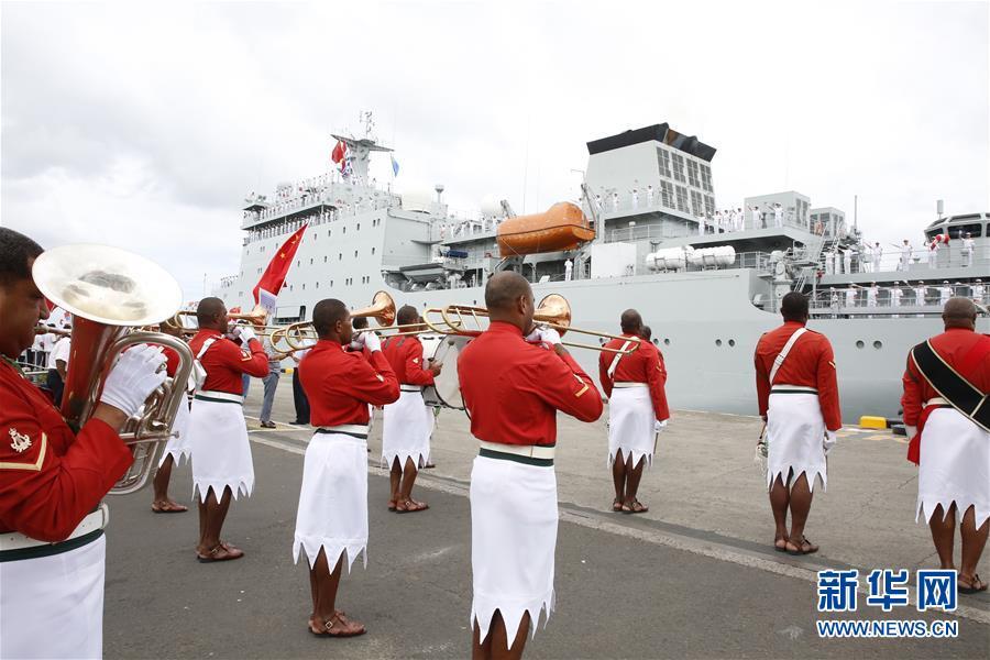(國際)(1)戚繼光艦結束對斐濟訪問啟程回國