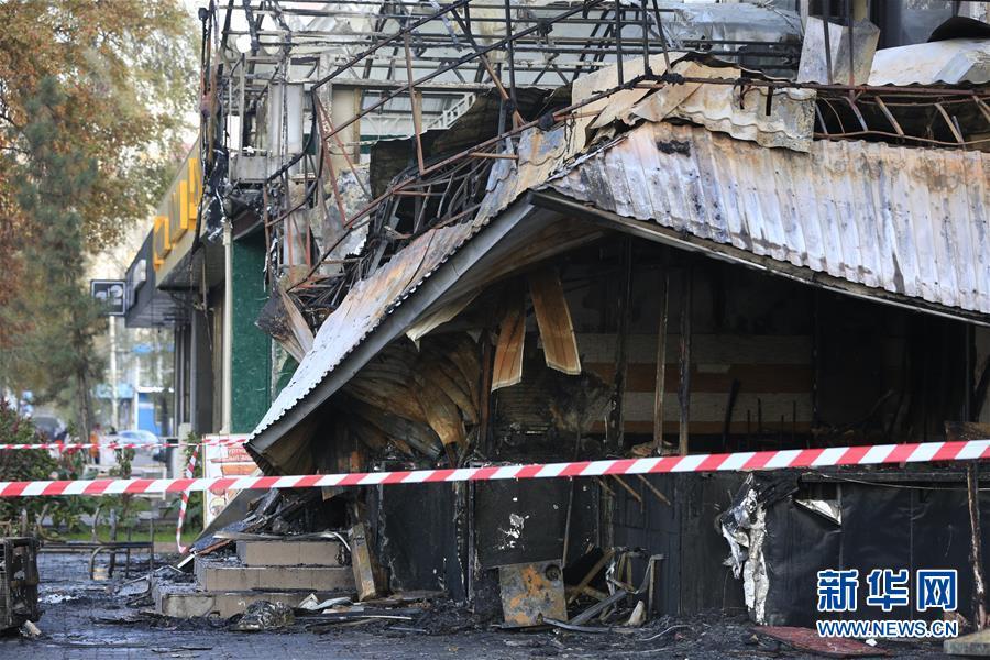 (国际)(1)吉尔吉斯斯坦快餐店爆炸致一人死亡