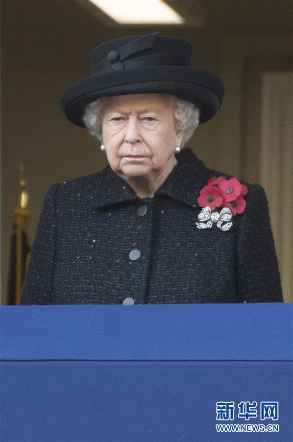 (国际)(1)英国王室及政要参加停战纪念日活动
