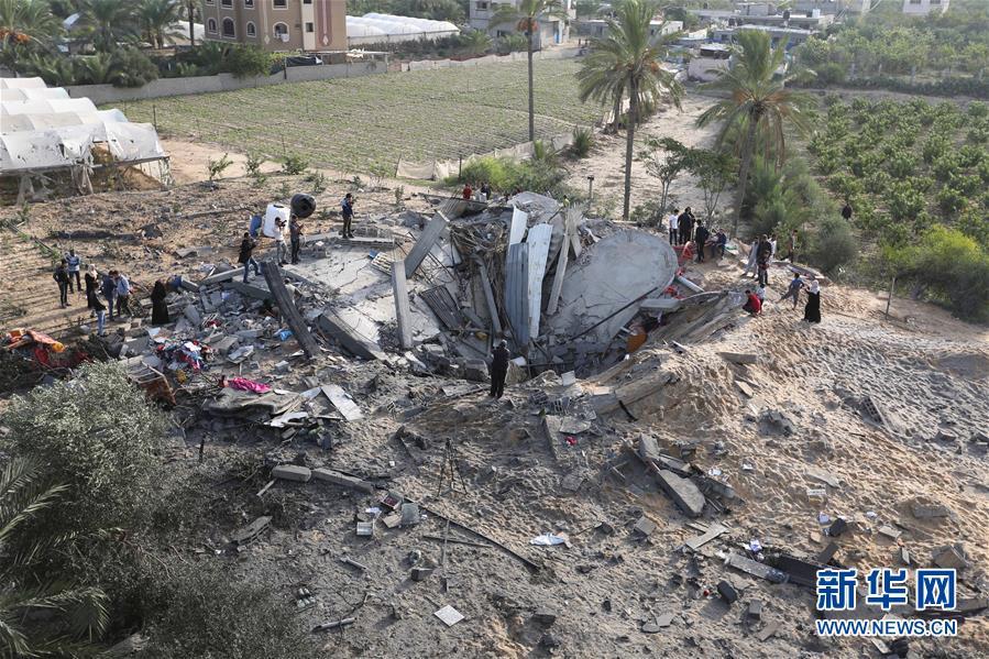 (國際)(1)以色列空襲加沙致5名巴勒斯坦人死亡