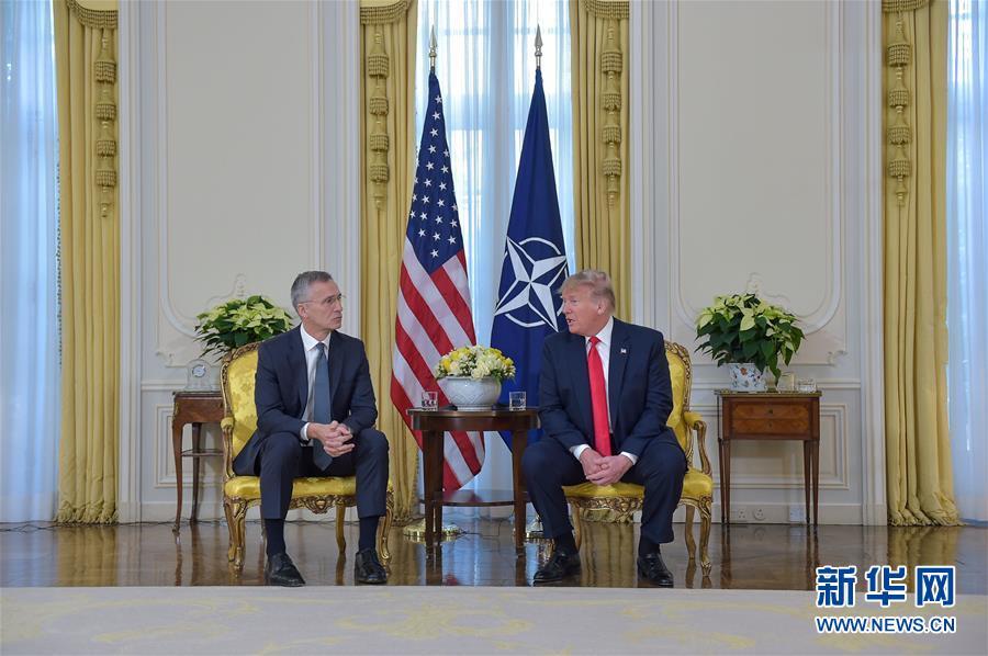 (國際)(1)北約秘書長斯托爾滕貝格與美國總統特朗普會談