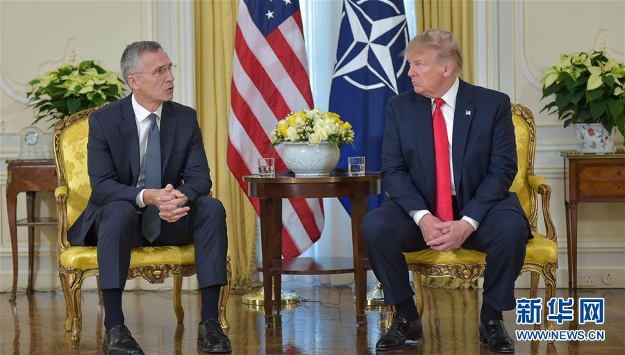 (國際)(2)北約秘書長斯托爾滕貝格與美國總統特朗普會談