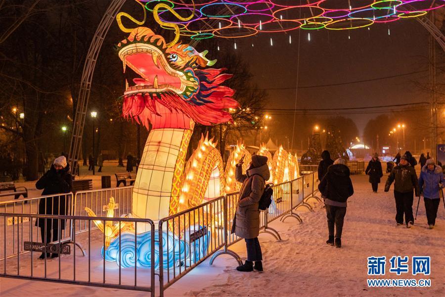 (國際)(1)中國彩燈節在莫斯科開幕
