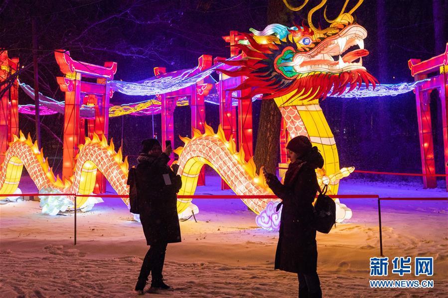 (國際)(4)中國彩燈節在莫斯科開幕