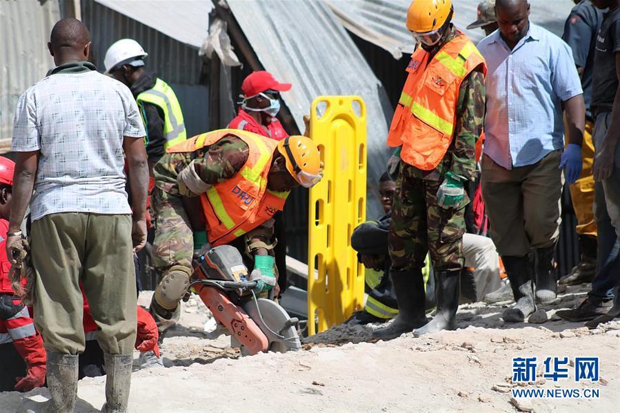 (國際)(1)肯尼亞首都發生樓房倒塌事件造成5人死亡