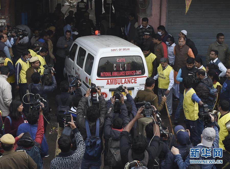 (國際)(2)印度一商業樓發生火災致32人死亡