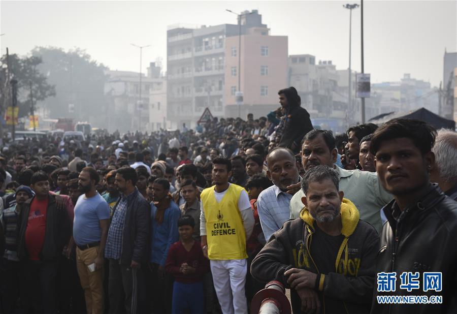 (國際)(6)印度一商業樓發生火災致32人死亡