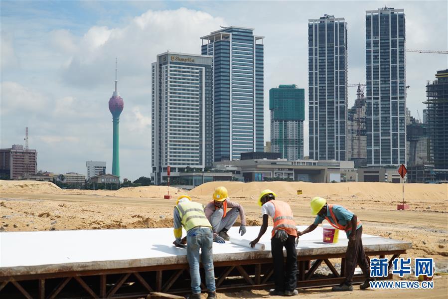 """(國際·圖文互動)(5)通訊:""""五年我們為斯裏蘭卡造出一片新土地""""——科倫坡港口城人的自豪與希冀"""